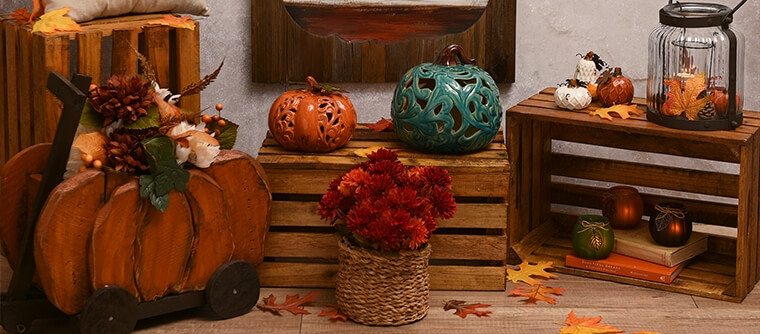 all fall home decor amp harvest decorations kirklands harvest home tole painting garden theme home decor craft