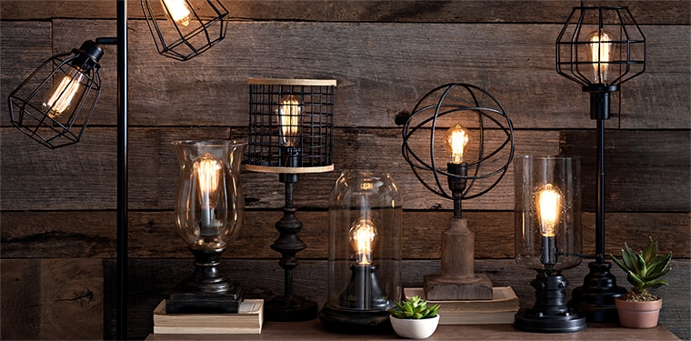 Edison Lights from Kirkland's Industrial Design Collection