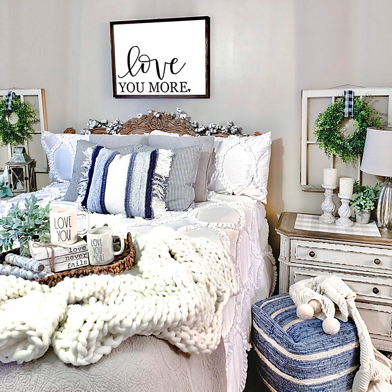 Adding Blue to Your Bedroom with the Kirkland's Insiders