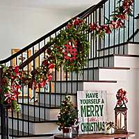 Christmas Wreaths on a staircase