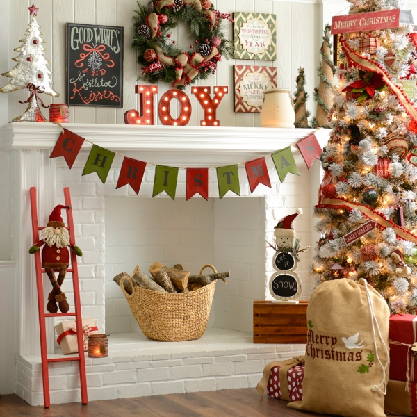 Kirklands Christmas Mantel Decor