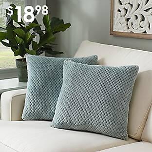Blue Plush Luxe Pillows