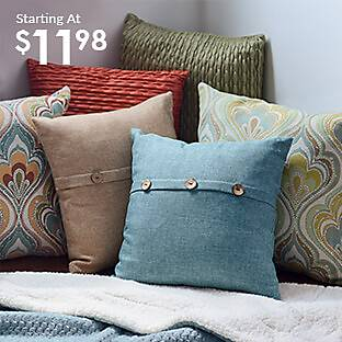 Large selection of pillows