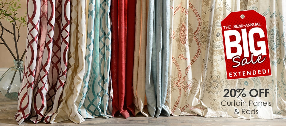 Big Sale Extended - 20% off curtain panels and rods