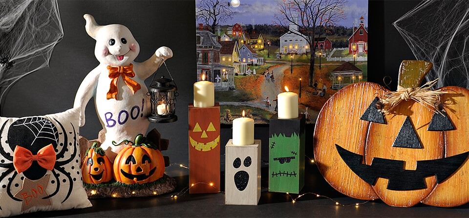 A fun selection of Halloween decorations