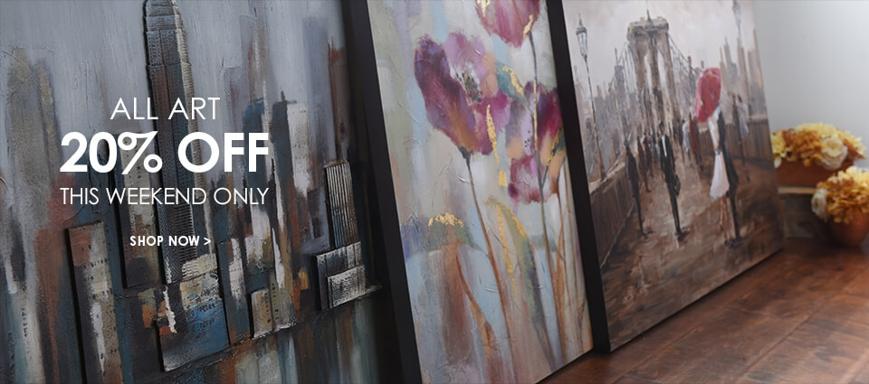 All Art 20% Off - This Weekend Only - Shop Now