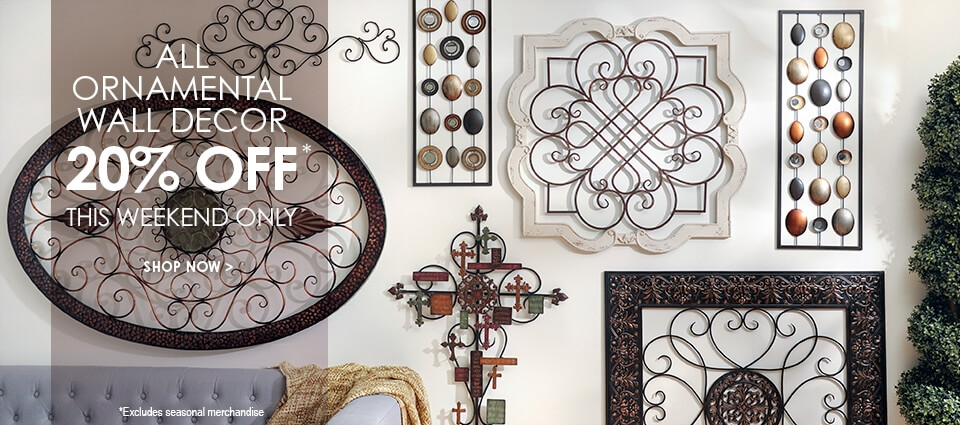 All Ornamental Wall Decor 20% Off - This Weekend Only - Shop Now