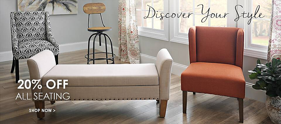 20% Off Seating - Shop Now