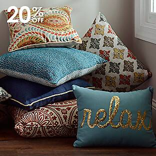 A selection of pillows