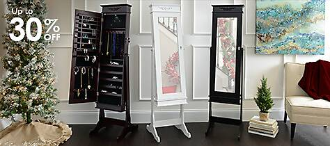 Jewelry Armoire: A great Christmas gift for her