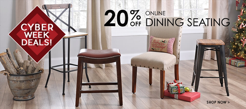 Cyber Week Deals - 20% Off All Dining Seating