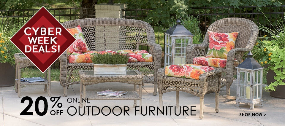 Cyber week Deals - 20% Off All Outdoor Furniture - Shop Now