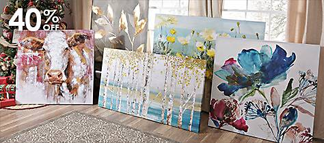 colorful selection of canvas art