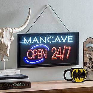 Pre-Lit Man Cave Hanging Wall Sign