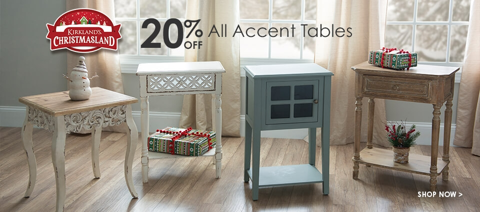 20% Off All Accent Tables - Shop Now