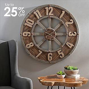 Distressed Garrison Wooden Clock