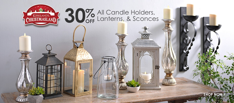 30% Off All Candle Holders, Lanterns, & Sconces - Shop Now