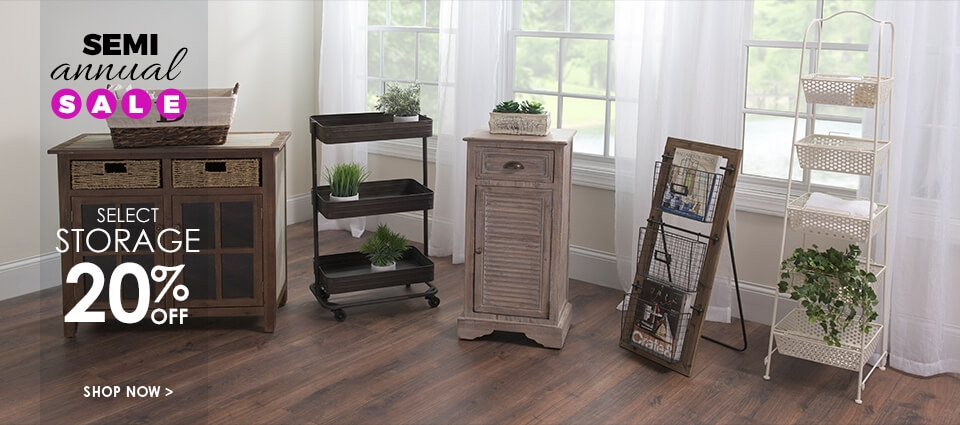 Semi Annual Sale - 20% Off Select Storage - Shop Now