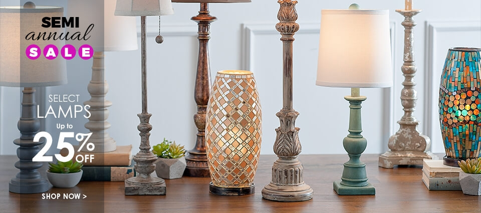 Semi Annual Sale - Up to 25% Off Select Lamps - Shop Now