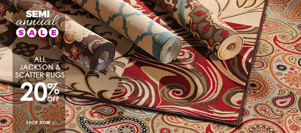 Semi Annual Sale - 20% Off All Jackson & Scatter Rugs - Shop Now