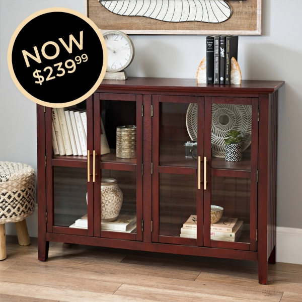 Tuscan Red Glass Cabinet