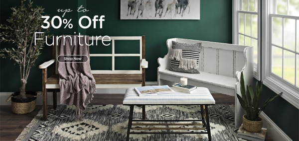 Up to 30% off Furniture - Shop Now