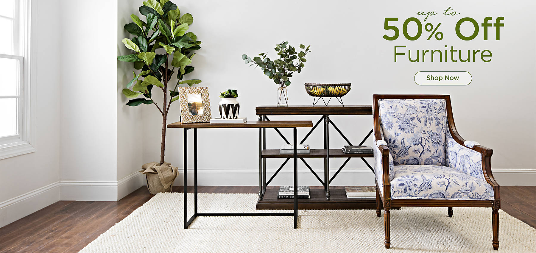 Up to 50% Off Furniture -Shop Now