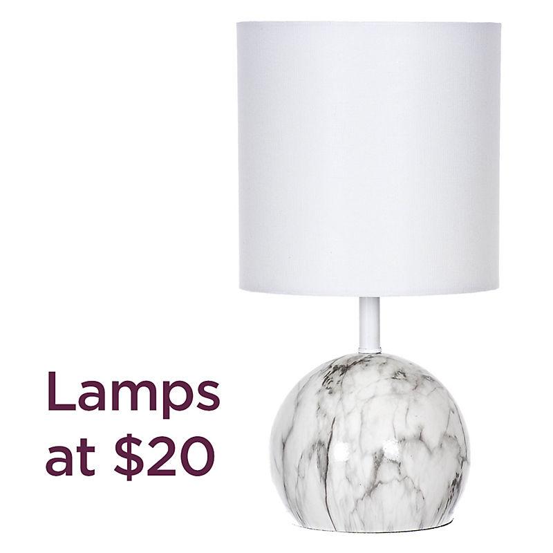 Lamps starting at $20