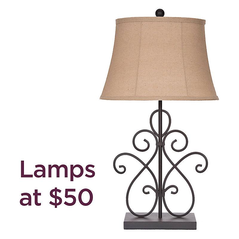 Lamps starting at $50