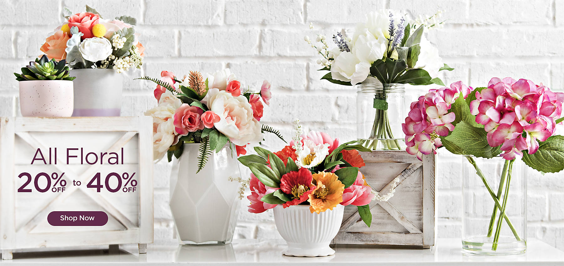 20 to 40% off All Floral - Shop Now
