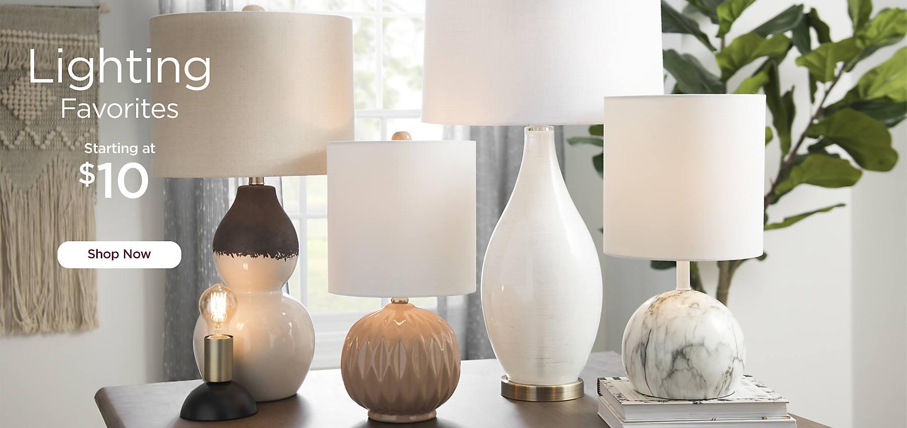 Lighting Favorites Starting at $10 - Shop Now