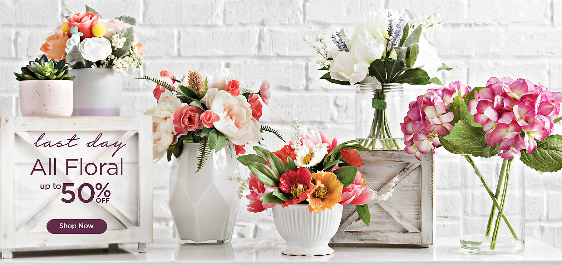 Last Day - Up to 50% off All Floral - Shop Now