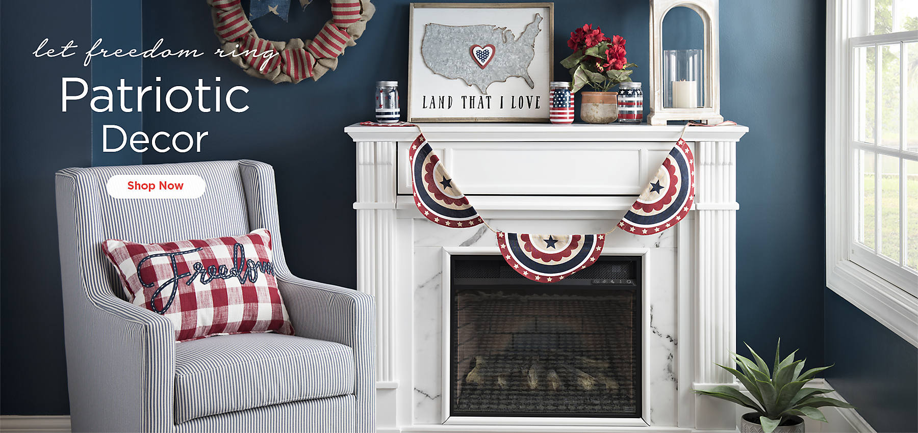 Let Freedom Ring Patriotic Decor   Shop Now