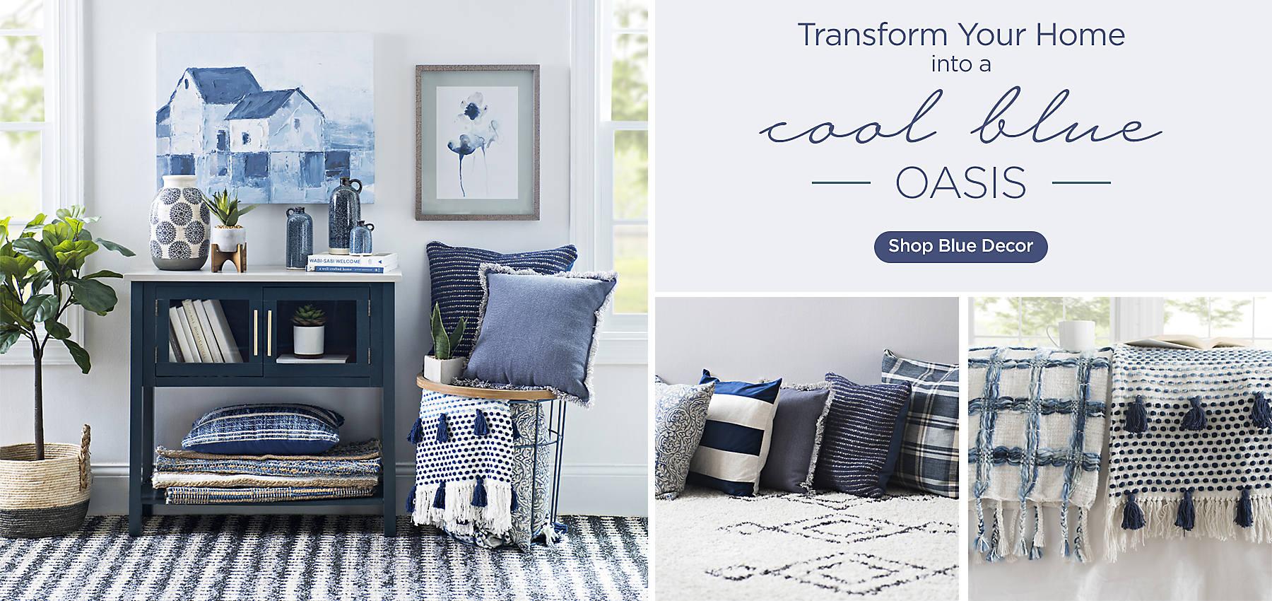 Transform Your Home Into A Cool Blue Oasis   Shop Blue Decor