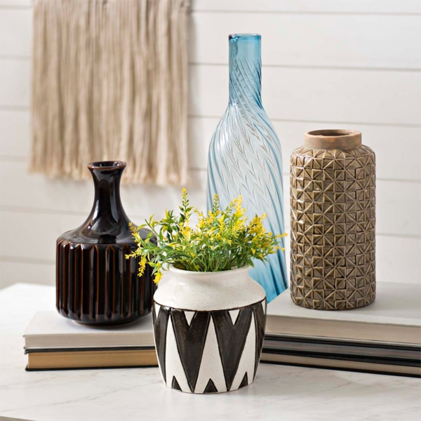 A variety of vases in many colors and styles