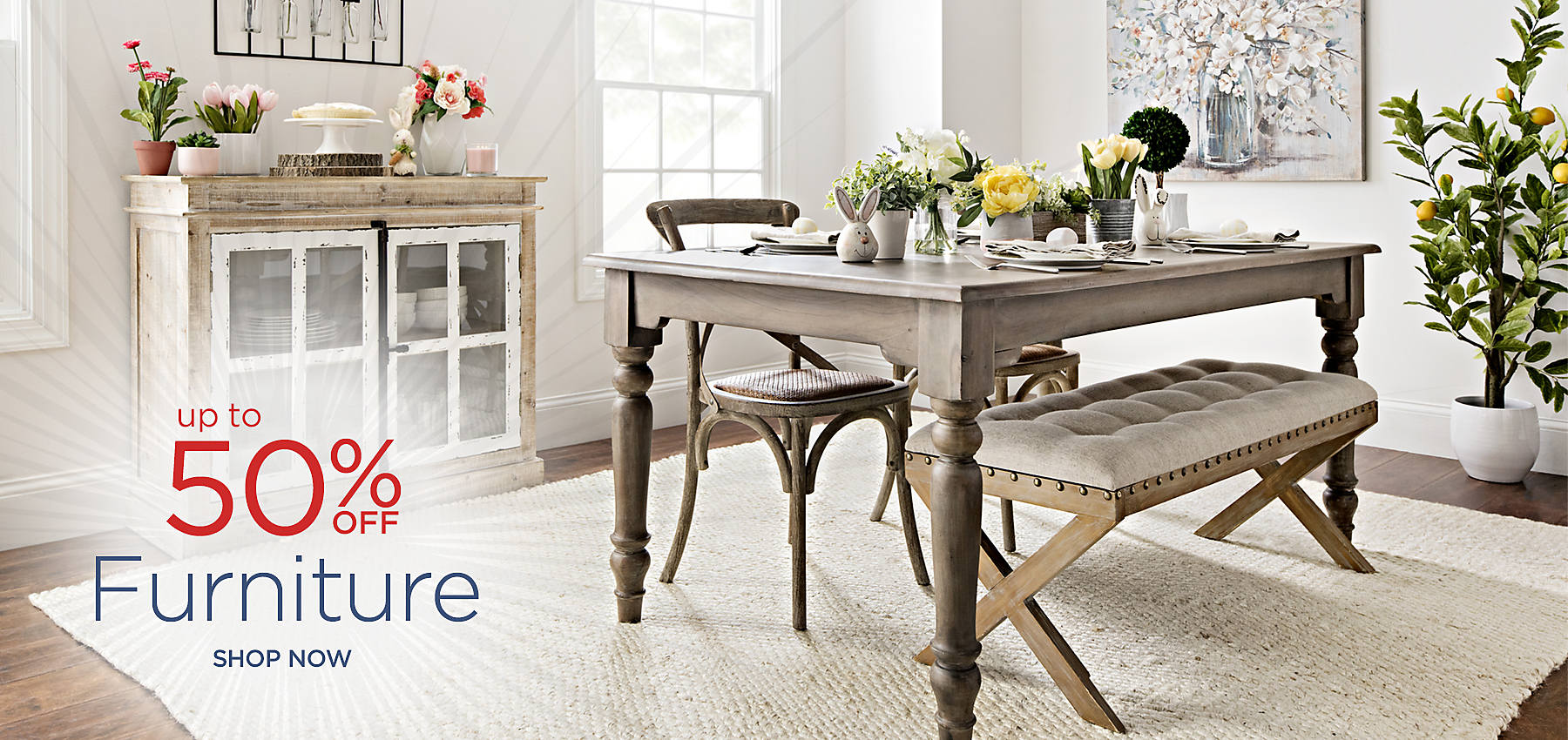 Up to 50% Off Furniture - Shop Now
