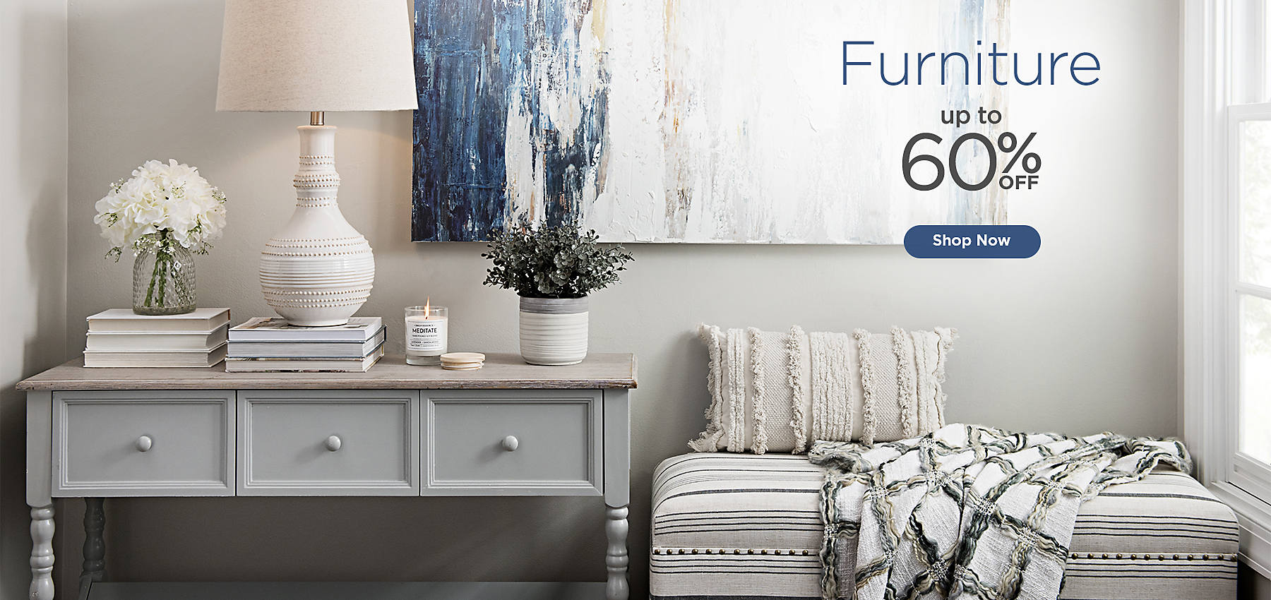 Furniture up to 60% off - Shop Now