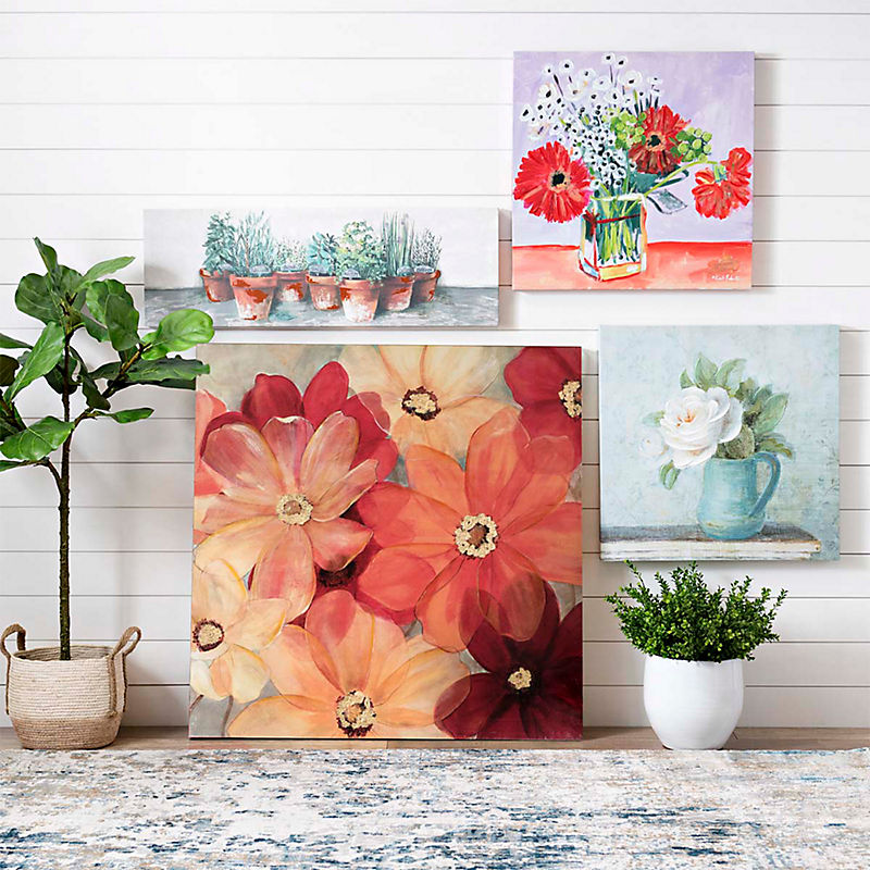 A wall of canvas art at a great price