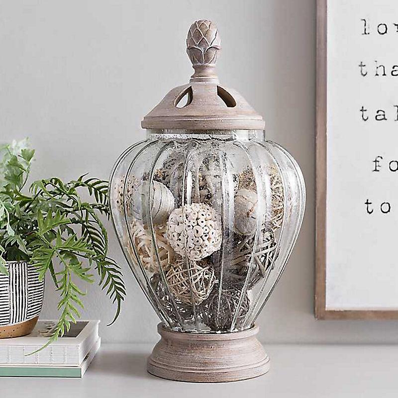 Pineapple Bubble Glass Potpourri Jar