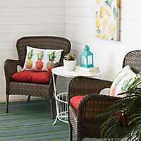 Hatteras Peppercorn Wicker Chairs
