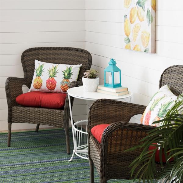 Hatteras Peppercorn Wicker Chairs