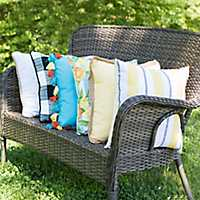 Outdoor Pillows on a chair