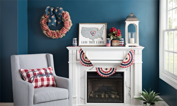 Show off your pride in red, white and blue with patriotic decorations!