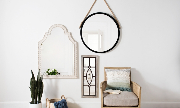 Choose from full-length leaner mirrors to decorative wall mirrors and more