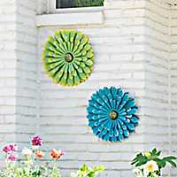 Flower Metal Wall Plaques