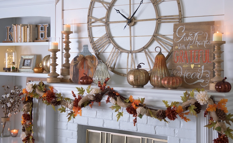 All fall home decor harvest decorations kirklands for Harvest decorations for the home