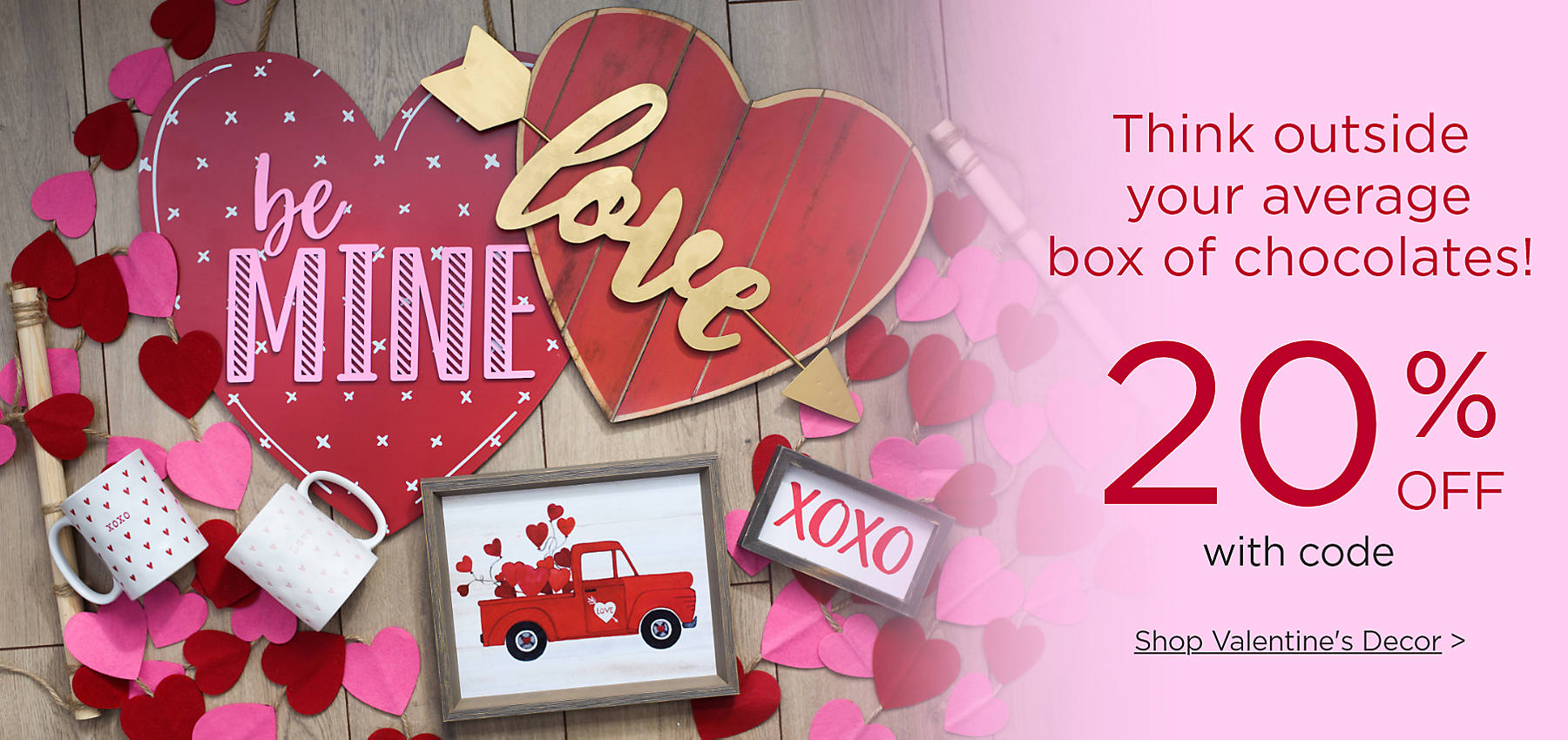 Think outside your average box of chocolates! 20% off with code Shop Valentine's Decor