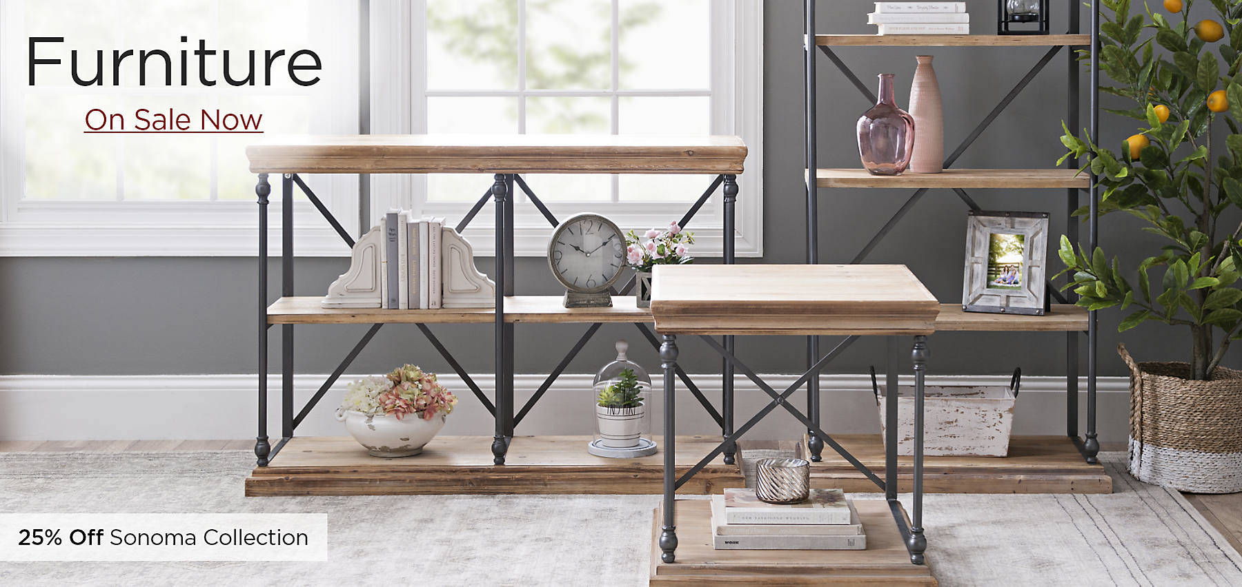 Furniture On Sale Now Featuring the Sonoma Collection 25% Off Online Only