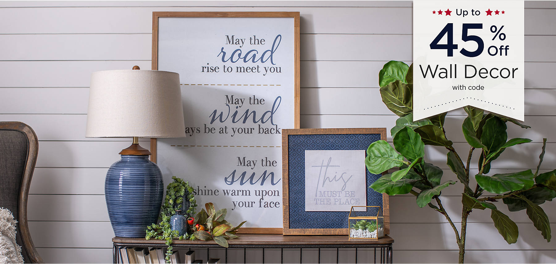 Up to 45% Off Wall Decor with code