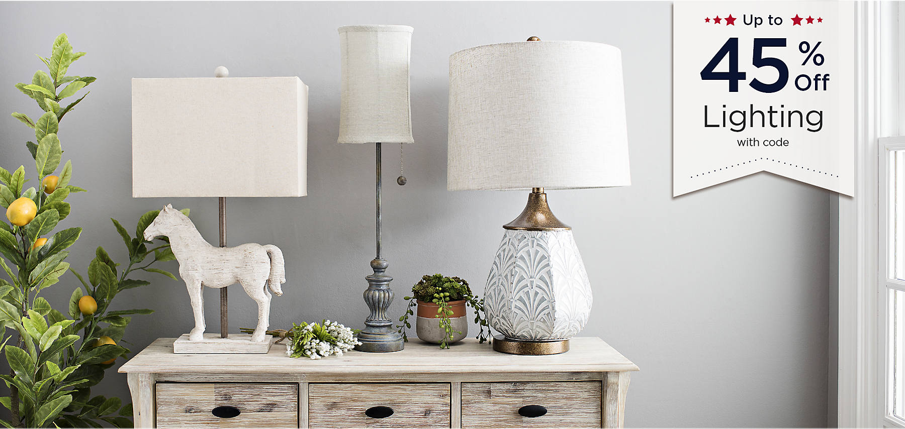 Up to 45% Off Lighting with code